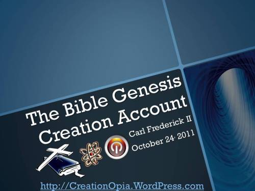 Bible Genesis Creation Account