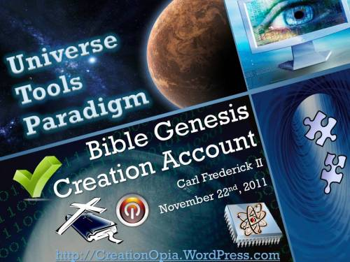 Bible Genesis Creation Account Cover Page